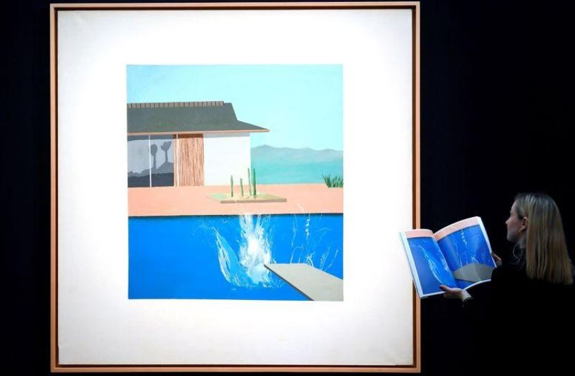 'The Splash' by David Hockney on display ahead of the Contemporary Art auction at Sotheby's in London, Britain, February 7, 2020.