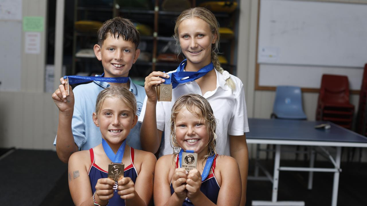 Finley Safranek, Suki Alford, Delilah Warton and Andie Gilbert from Byron Bay Surf Life Saving Club all claimed gold medals at the recent Country Championships.