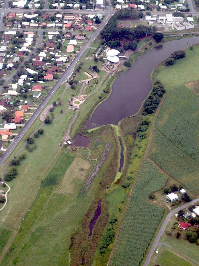 Aerial shots of Mackay Botanic Gardens taken in 2004. Picture: Giulio Saggin.
