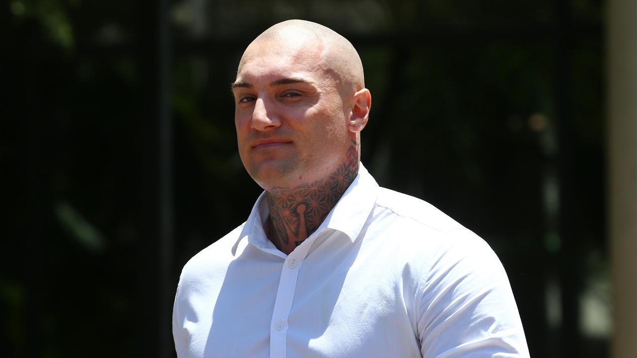 Matt Hilton outside the Cairns Courthouse. PICTURE: BRENDAN RADKE
