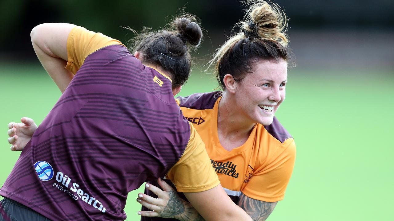 Jayme Fressard has endured a tough run ahead of her Broncos debut. Picture: AAP Image/Richard Gosling