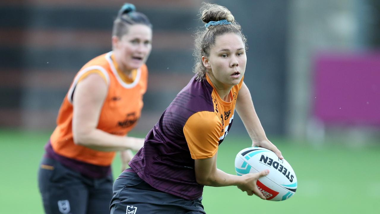Tahlulah Tillett is preparing to make her comeback from injury at the NRLW Nines. Picture: AAP Image/Richard Gosling