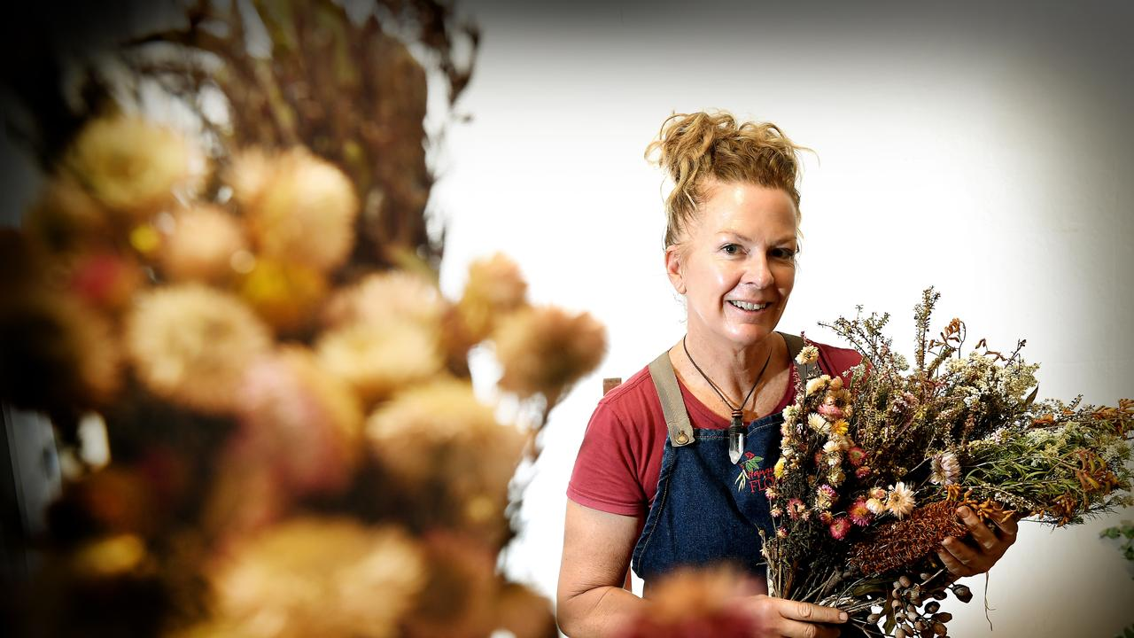Hanging Rock Flowers co-owner Linda Heilbron believes dried flowers are increasingly popular including for weddings.
