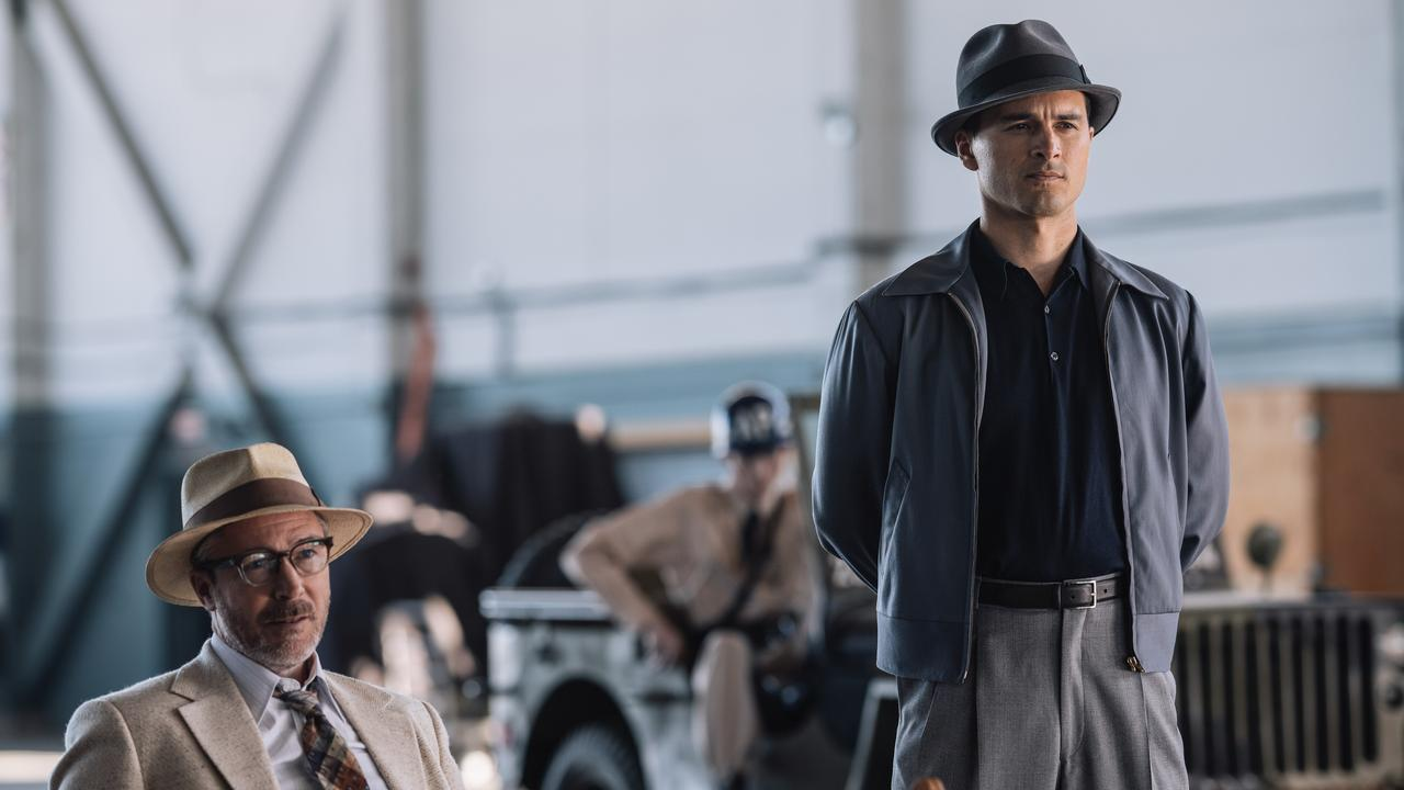Aidan Gillen and Michael Malarkey in a scene from season two of Project Blue Book.