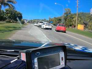 Police dashcam footage captures close call