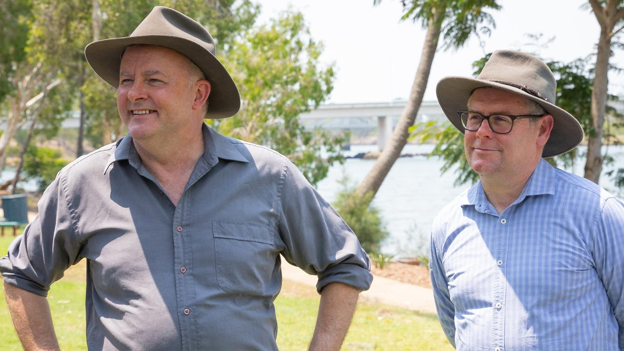 Opposition Leader Anthony Albanese with Shadow Minister for Northern Australia Murray Watt toured Rockhampton to listen to community concerns following a brutal Federal Election defeat.