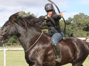 Horse archery lessons gallop in to Pioneer Valley