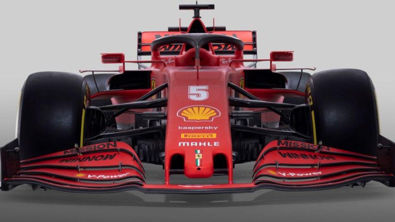 Sebastian Vettel's number five Ferrari.