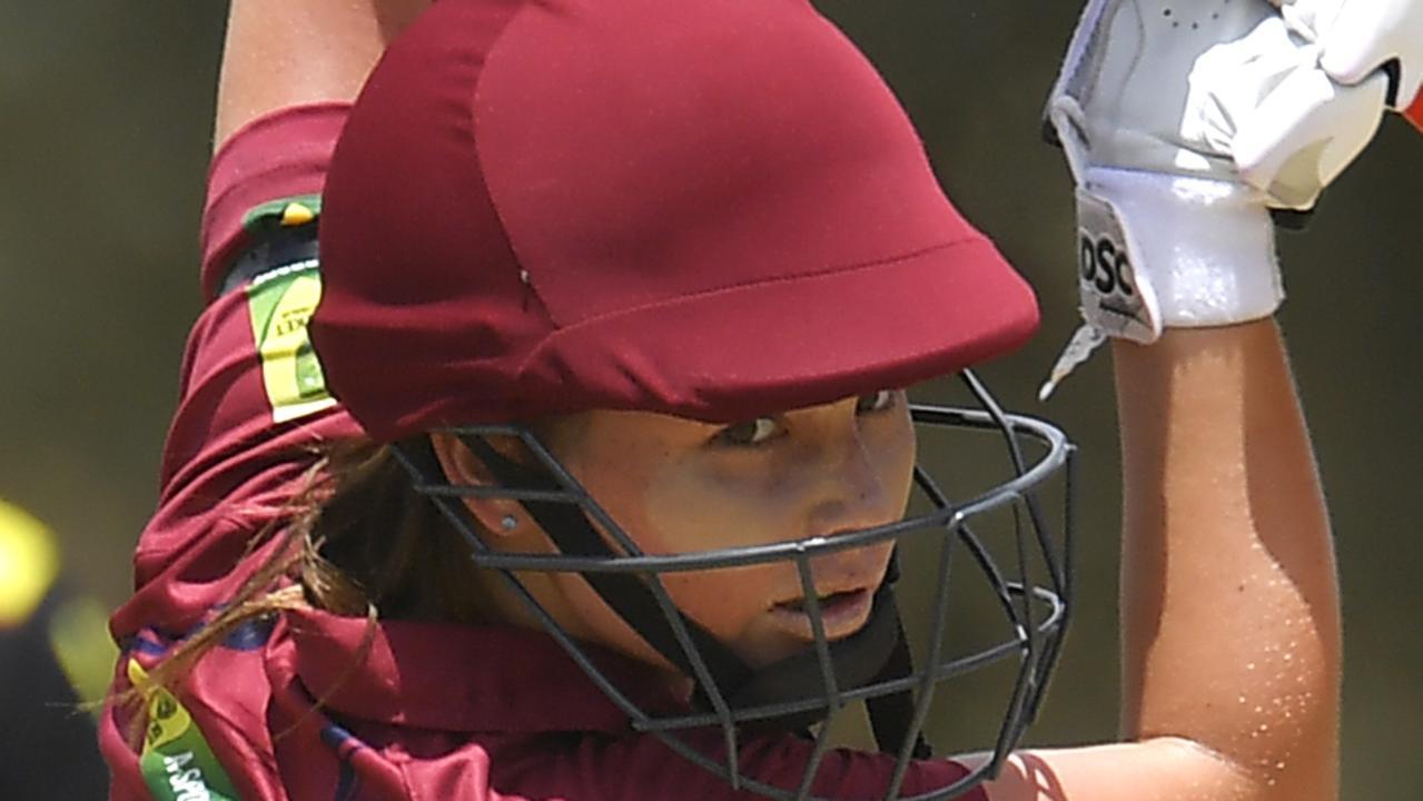 Gympie cricketer Sharntaya Bennett-Treeby in action in Alice Springs. Photo: Albert Perez