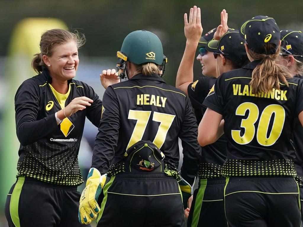 Jess Jonassen claimed five wickets in the 11-run victory at Junction Oval.