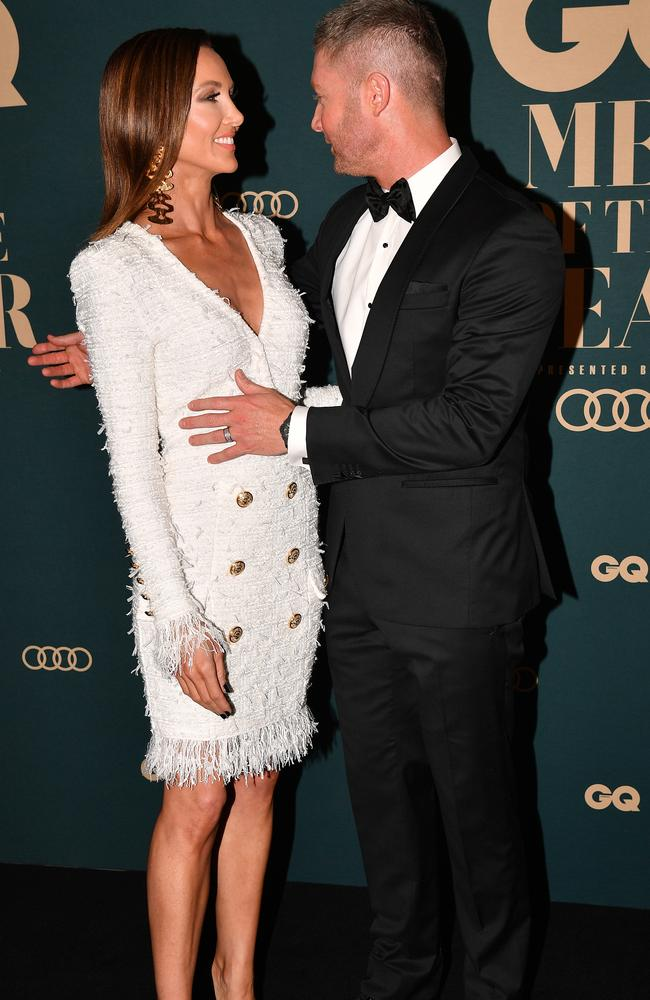 The couple in November 2018 at the GQ Australia Men of the Year awards in Sydney. Picture: AAP Image/Brendan Esposito