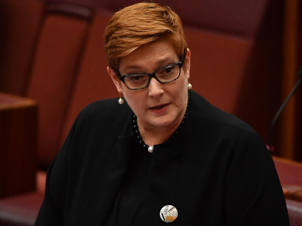 Minister for Foreign Affairs Marise Payne. Picture: MICK TSIKAS
