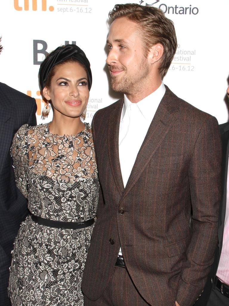Eva Mendes and Ryan Gosling. Picture: FameFlynet Inc Beverly Hills