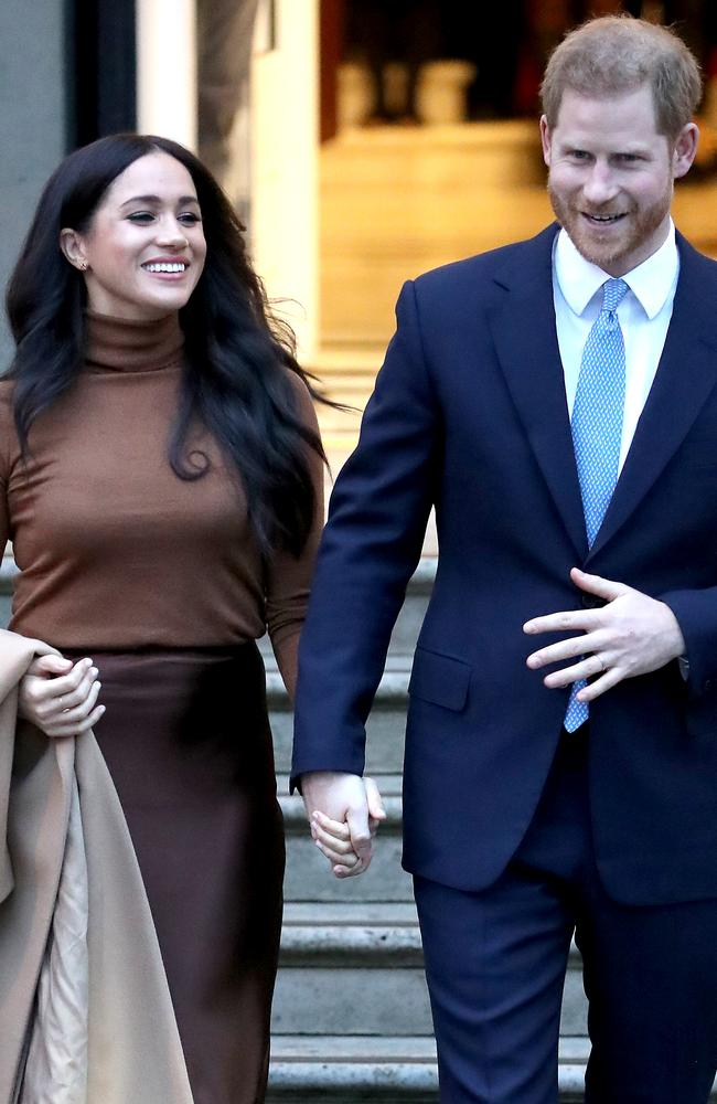 The Sussexes were at the same swanky JP Morgan event as J.Lo and Alex Rodriguez. Picture: Getty Images.