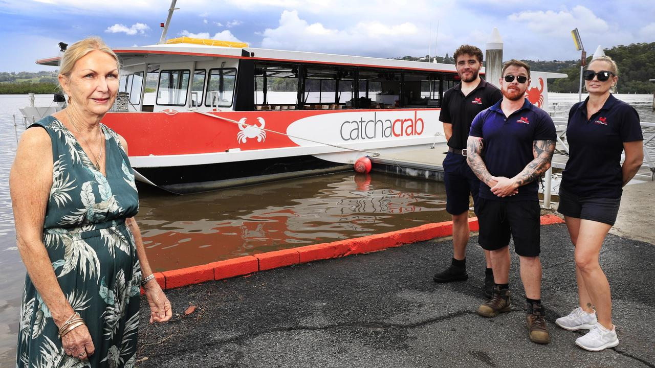 Catch a Crab owner Lee Eyre with workers Joel Eyre, David Eyre and Belinda Cohan. The tourism venture relies heavily on the Asian tourist market. Picture: Scott Powick