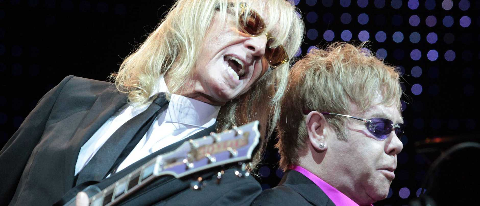 Elton John with Davey Johnstone.