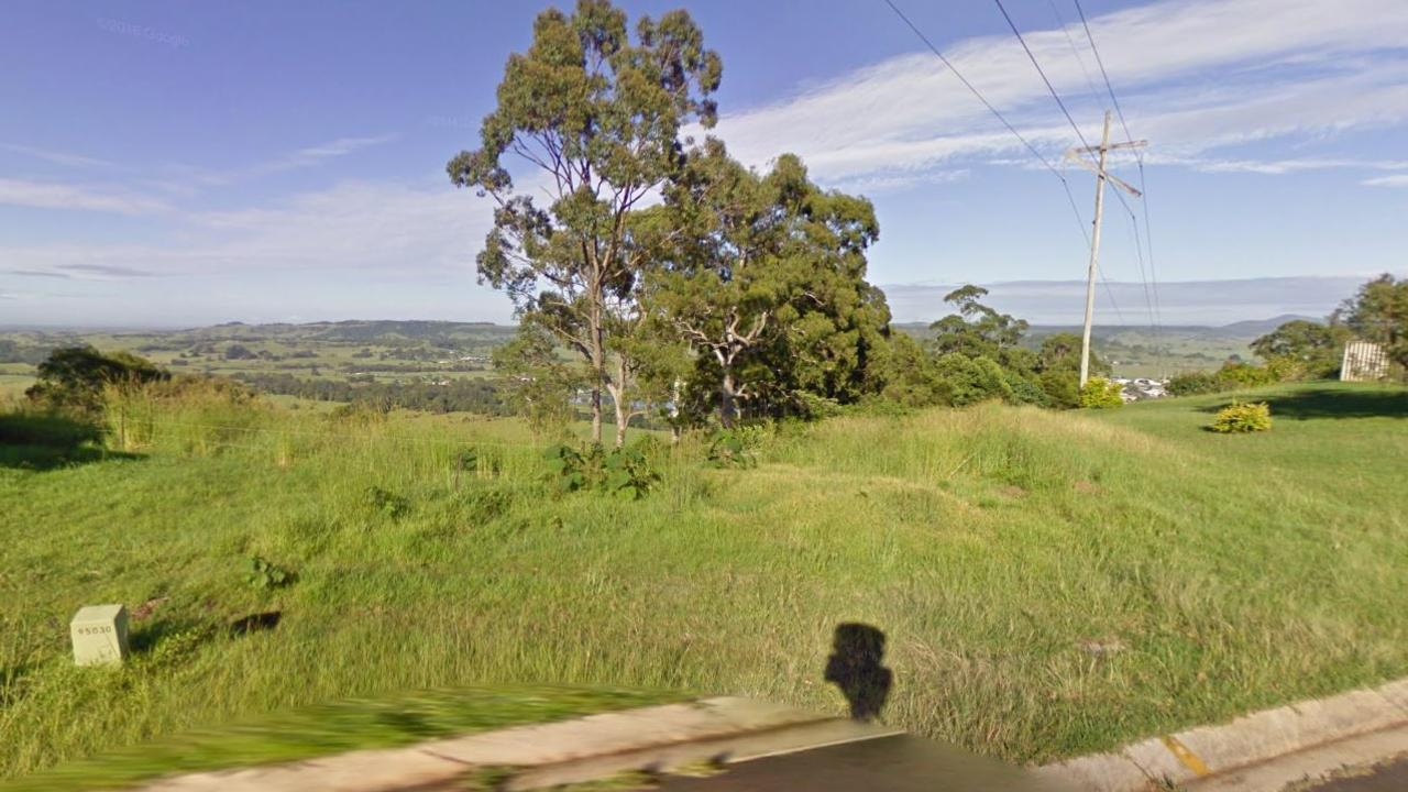 Google Maps photo from Felicity Drive, East Lismore, of the land which will potentially be rezoned.