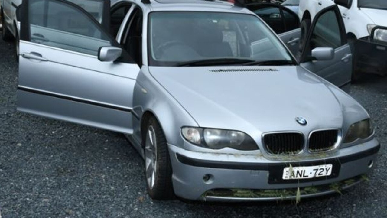 An image released by NSW Police Force of Anthony Stott's BMW. Picture: NSW Police Force