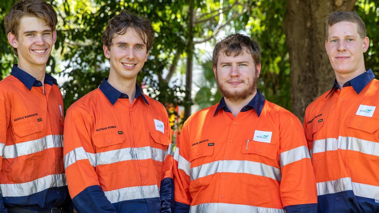 New Wilmar Mackay region apprentices, from left, Harry Baumgarten, Nathan Robke, Jordan Siganto and Brenton Fontaine.