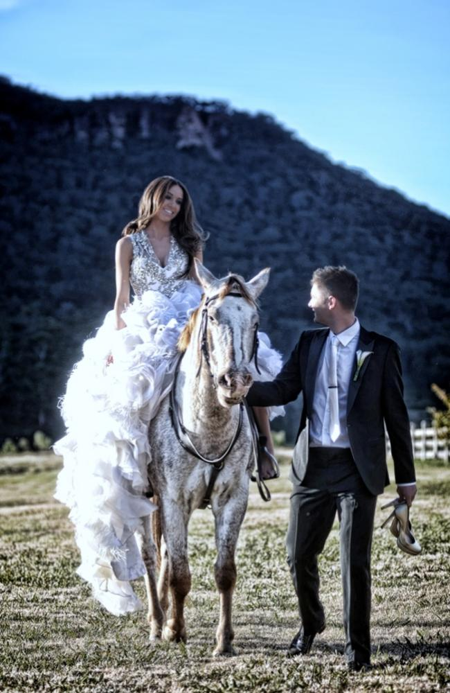 The couple had a lavish wedding in 2012 at the Wolgan Valley Resort in the NSW Blue Mountains. Picture: Supplied