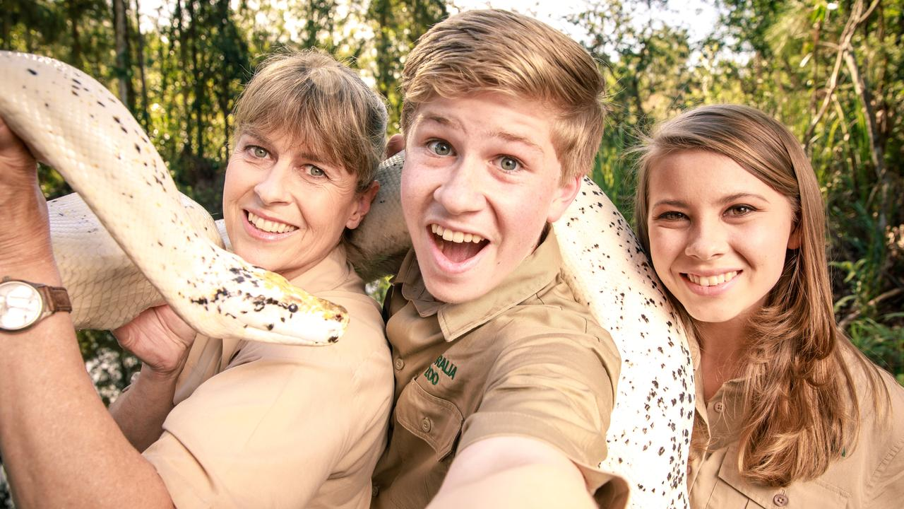 Terri, Bindi and Robert Irwin at the Australia Zoo.