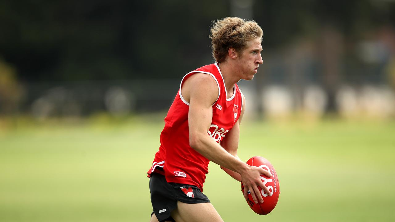 New Swan Dylan Stephens has drawn praise from teammate Isaac Heeney. Picture. Phil Hillyard