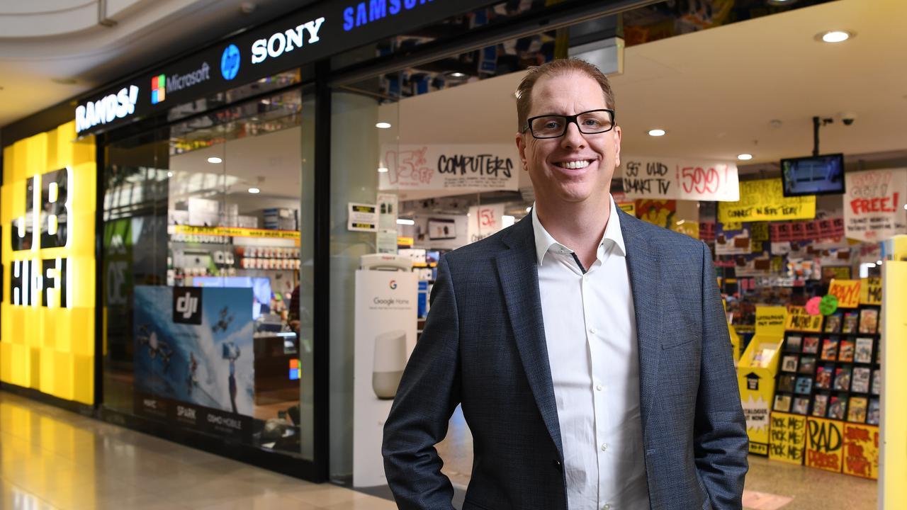 JB Hi-FI chief Richard Murray says electronics is no longer discretionary. AAP Image/James Ross