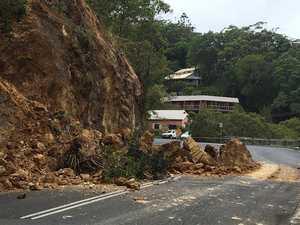 Landslips creating hazards on local roads