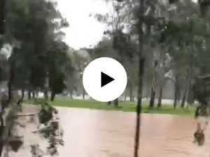 WATCH: Parts of Coutts disappear under floodwater