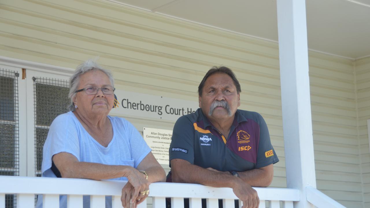 Cherbourg Elders Lillian Gray and Bevan Costello. Photo: Laura Blackmore
