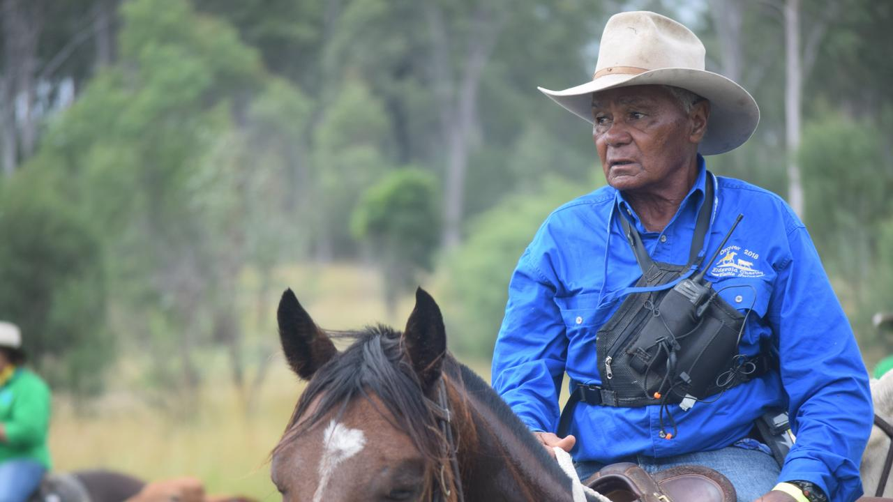 CANCELLED: Drover Ron Bligh in action during the Eidsvold Charity Cattle Drive in 2018. Picture: File