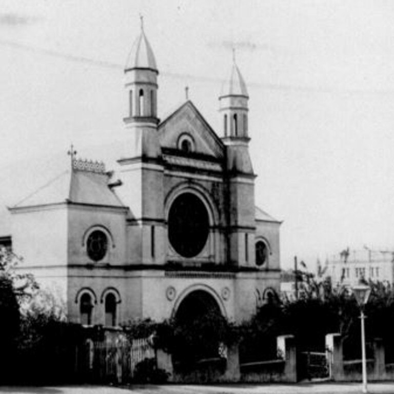 A historic photo of the Brisbane Synagogue taken in the early 20th Century. Picture: State Library of Queensland/PD Online