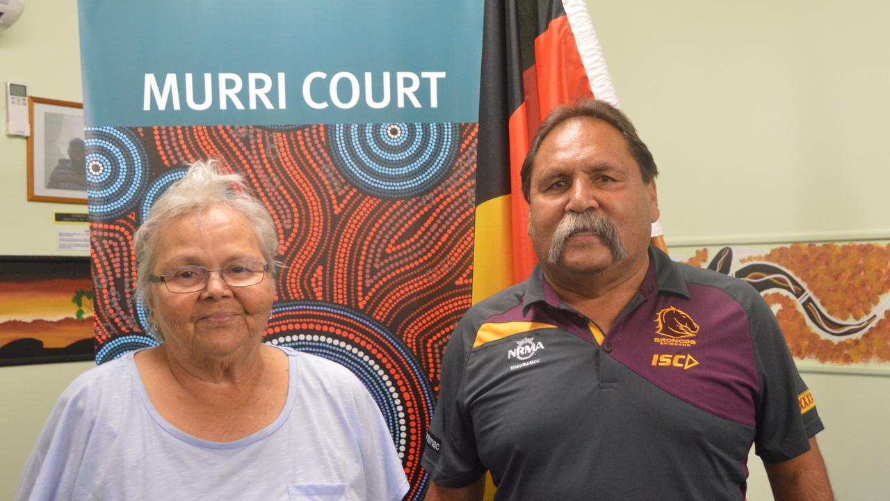 THINKING FORWARD: Cherbourg elders Lillian Gray and Bevan Costello who are part of the Barambah Local Justic Group. Photo: Laura Blackmore
