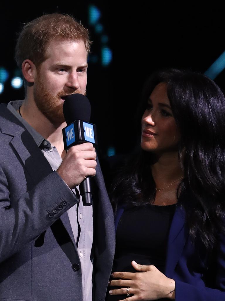Harry and Meghan at an appearance at WE Day UK in March last year. Picture: John Phillips/Getty Images