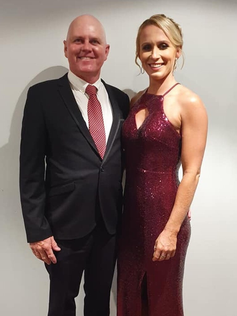 HALL OF FAME: Trainer John Manzelmann and Best Country Racing New Comer Jade Doolan.