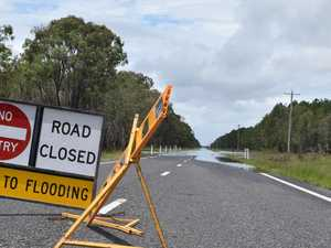 ROAD CLOSED: Heavy rain leaves small towns isolated