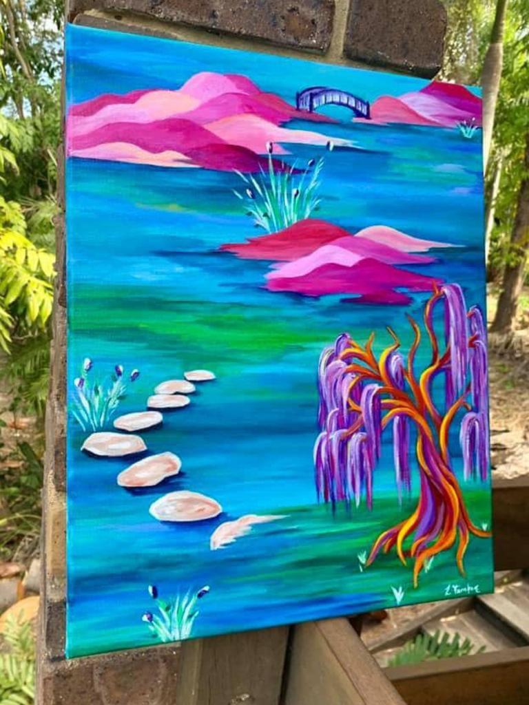 Une peinture vibrante de Lauren Farnham.