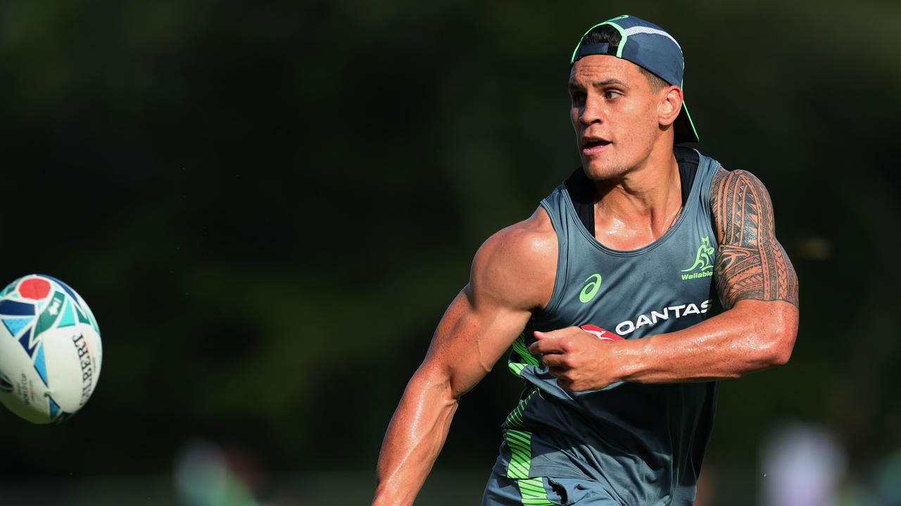 Matt Toomua during a Wallabies training session. (Photo by Dan Mullan/Getty Images)