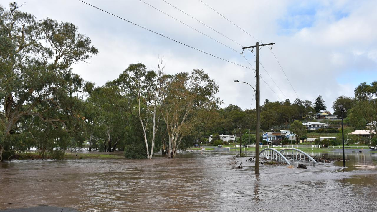 FORGET FLOODED ROADS: Park Road was completely submerged earlier this week and most of the flooding has moved north towards Leyburn.