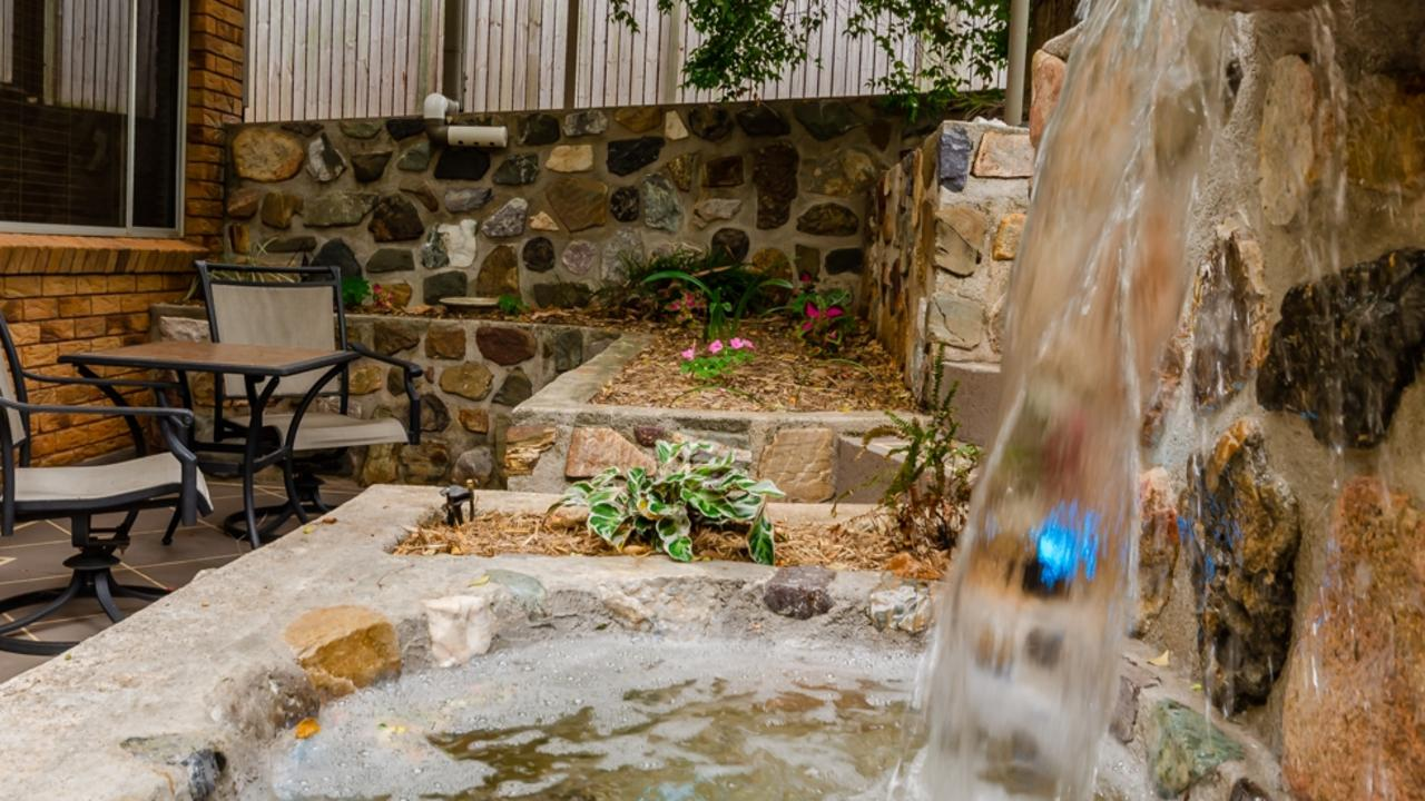 3 Vincent St's water feature creates a tranquil feel