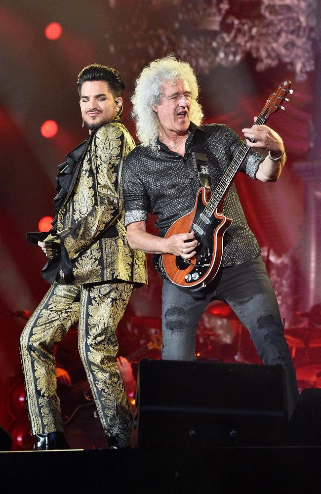 Queen and Adam Lambert have donated their stage for Fire Fight Australia. Picture: Theo Wargo/Getty Images.