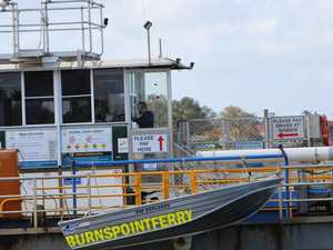 Ferry service delayed due to weather conditions