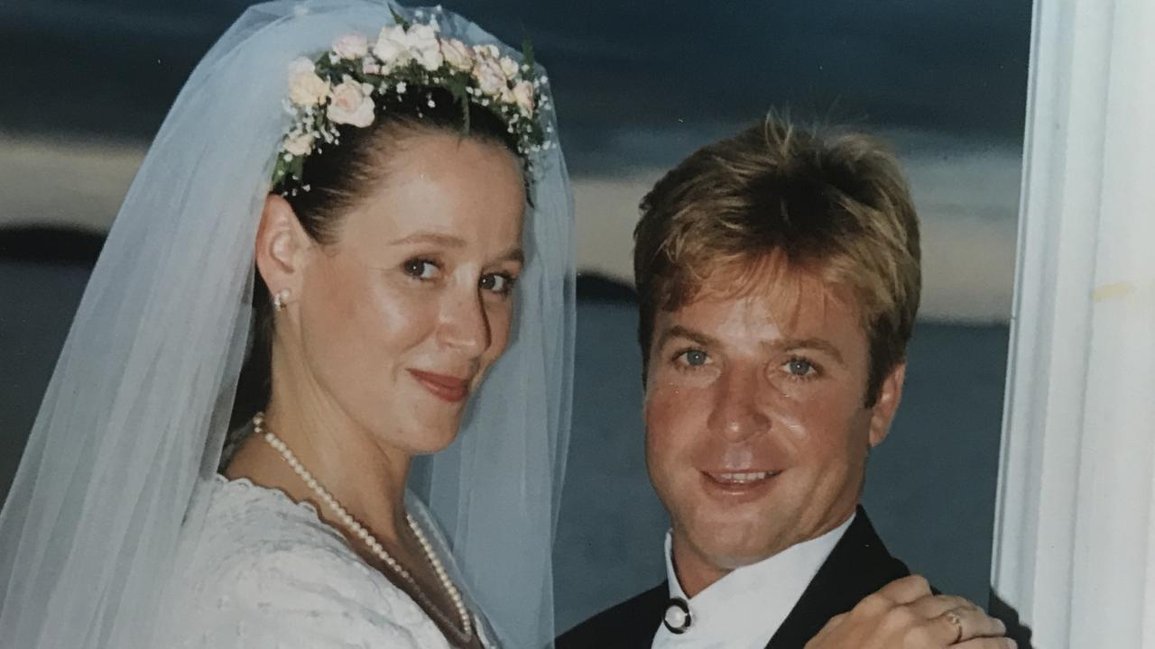Frances and Troy Thompson, on their wedding day, on February 14, 1995, on the jetty at Coral Sea Resort.