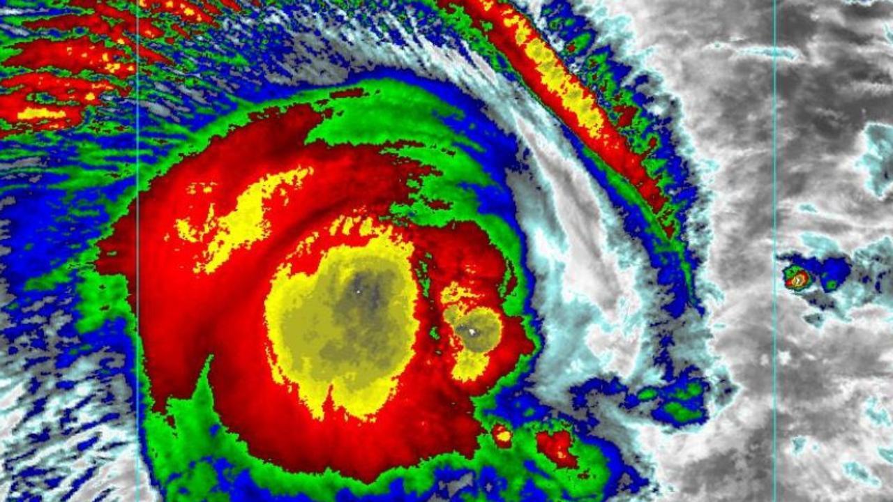 Cyclone Uesi is powering off the Australian east coast. Picture: NOAA USA.