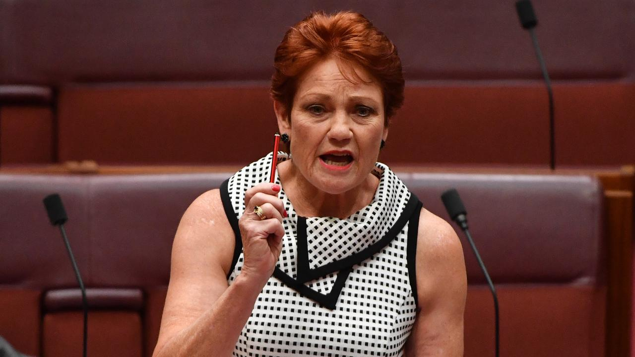 Pauline Hanson has blamed shocking outcomes for indigenous Australians on Aboriginal people not taking responsibility for themselves. Picture: /Mick Tsikas/AAP