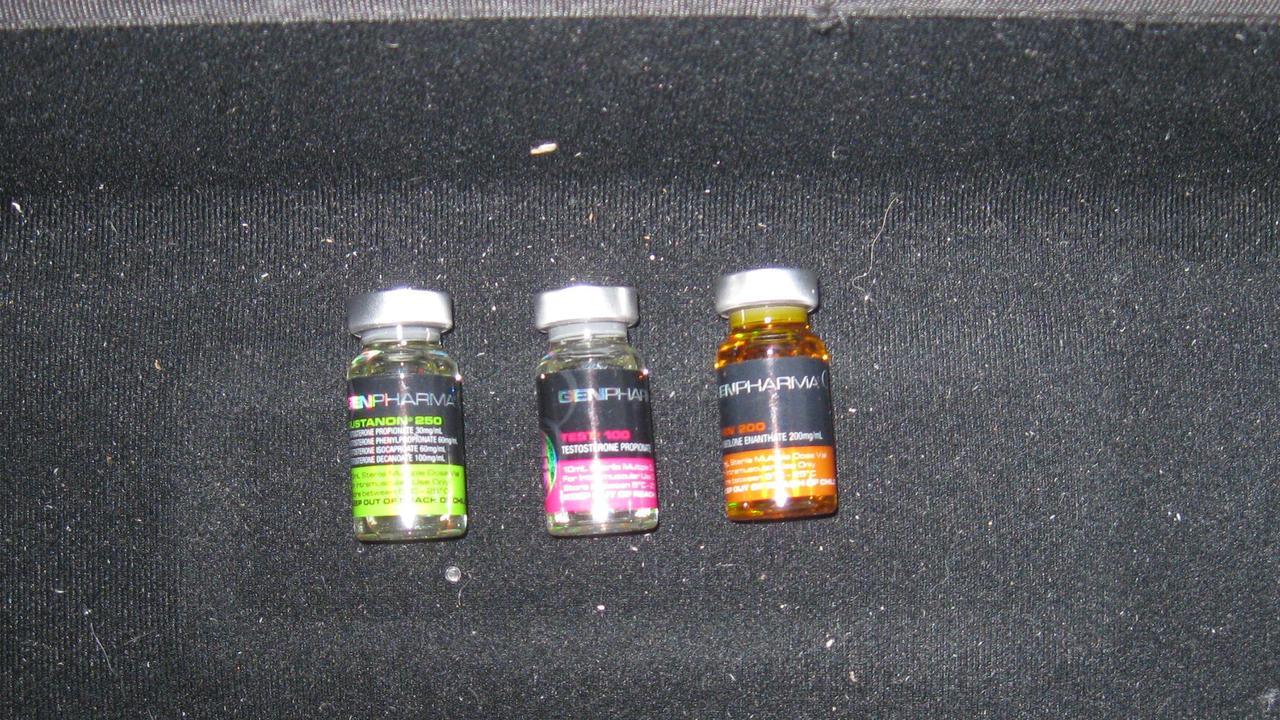 Vials of testosterone seized from Cairns drug trafficker Matt Hilton. Picture: Supplied