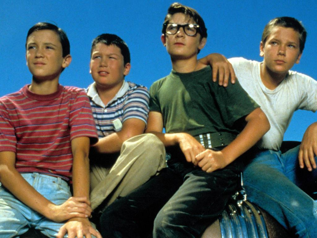 Wil Wheaton, Jerry O'Connell, Corey Feldman and River Phoenix in Stand By Me. Picture: Supplied