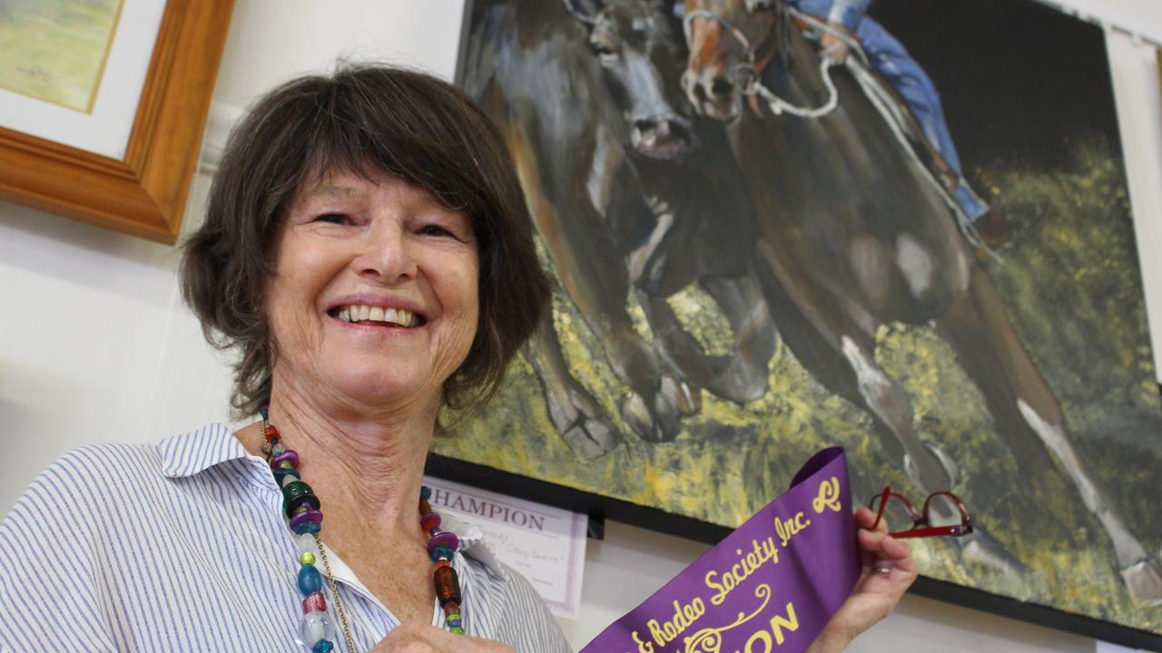 PAINTER'S TOUCH: Adele Thomas will donate 14 of her paintings in the charity auction and previously won a prize in the Warwick Show for her artwork.