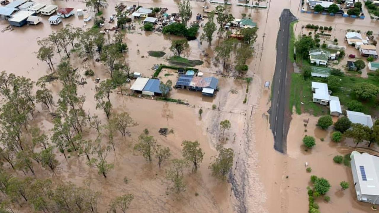 The Western Downs town has seen more than 260mm of rain in just days. Pictures: QFES