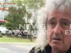 Queen star breaks silence over TV crew clash